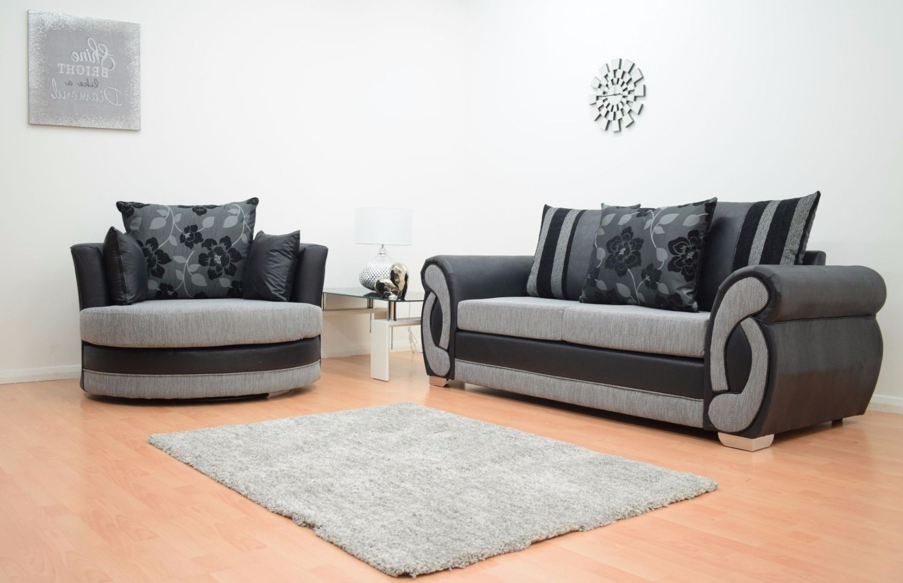black 3 seater sofa and cuddle chair roche bobois mah jong for sale best 20 of sofas chairs fashionable regarding furnish view 8