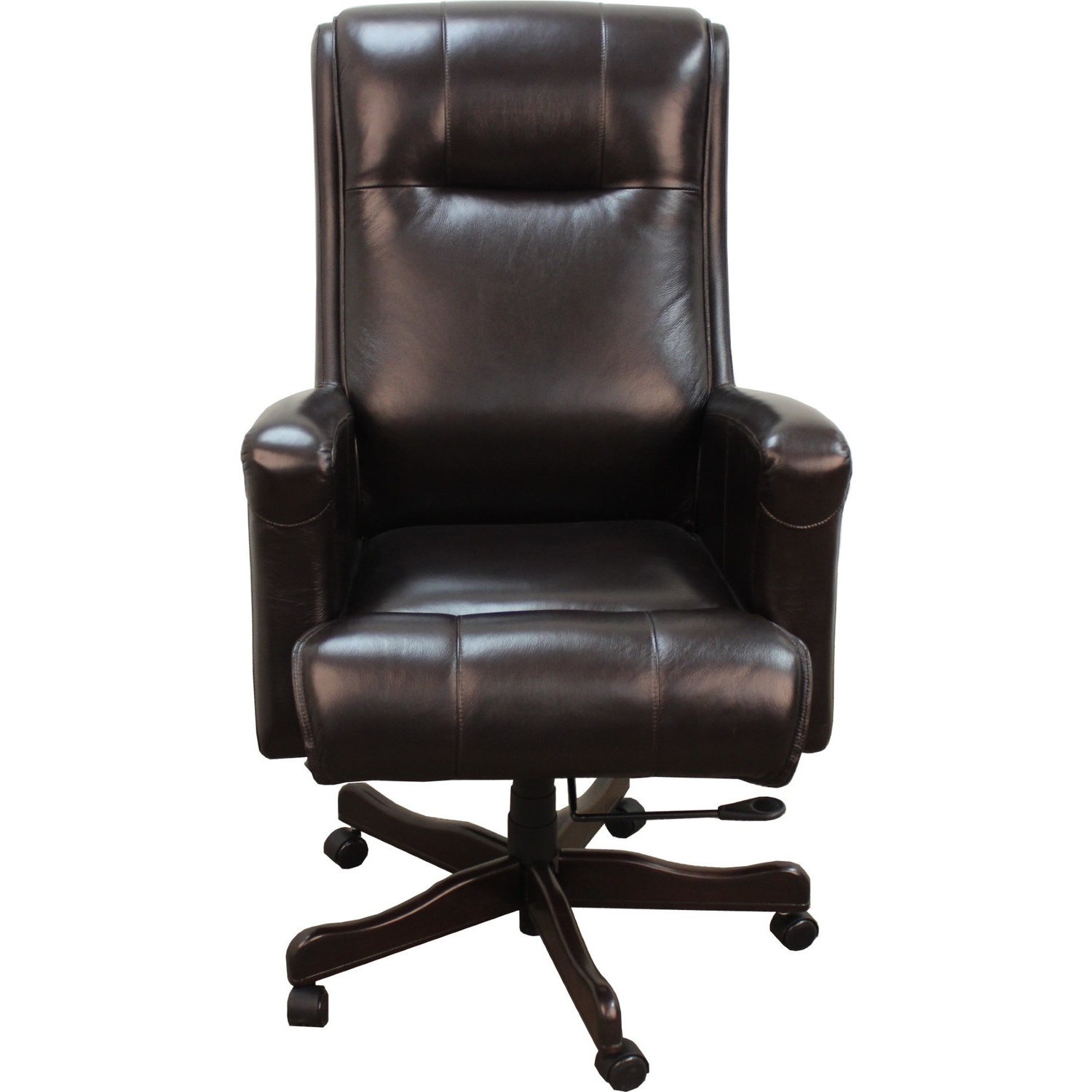 desk chair brown leather ergonomic kneeling 20 inspirations of executive office chairs flash furniture high back throughout best and newest