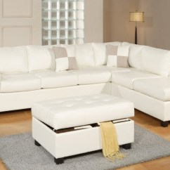 White Leather Sectional Sofa With Ottoman Portland Explore Gallery Of Sectionals Showing 19 20 Pertaining To Well Known