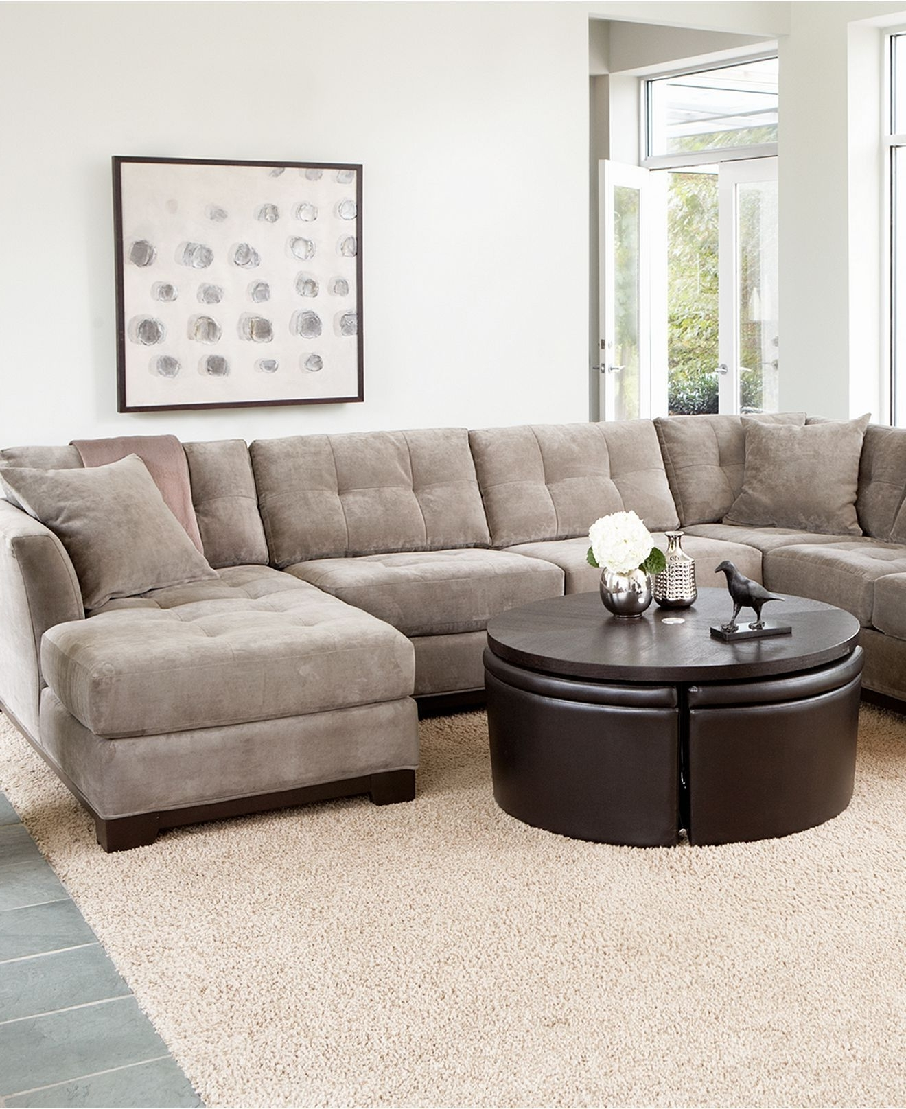 elliot fabric sectional living room furniture collection rooms with dark blue sofas view photos of macys showing 18 20 inside latest sofa sectionals gallery