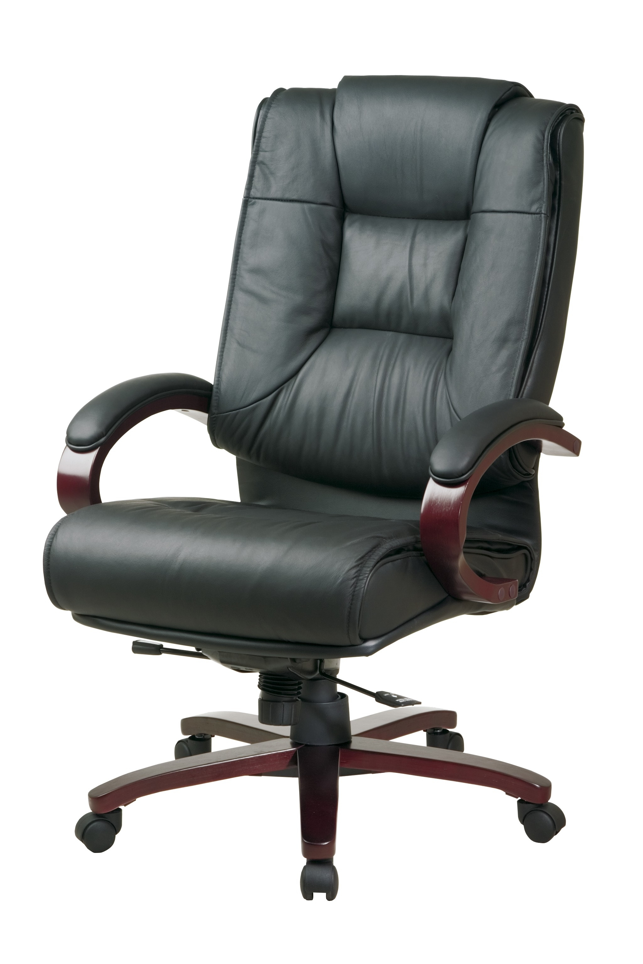 wood and leather executive office chairs contemporary dining chair showing gallery of view 6 most recently released ideas with black inside