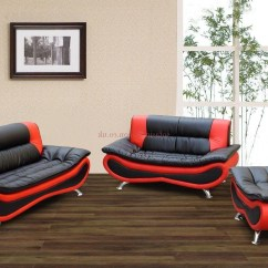 Black And Red Leather Sofa La Z Boy Collins Sectional Sleeper With Full Mattress 20 Best Sofas Regard To Most Up Date Sale