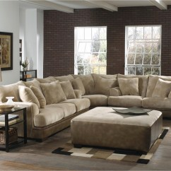 Large Plush Sectional Sofa Furniture Of America Lawrence Sleeper With Storage Image Gallery Sofas View 8 20 Photos Well Known U Shaped Hotelsbacau Com Inside