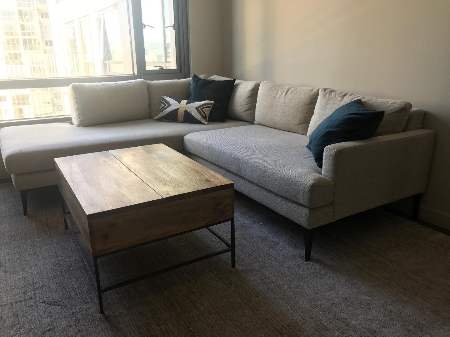 west elm dunham sofa reviews designer slipcovers for sofas 2019 popular sectional andes terminal chaise couch sale in san throughout well liked