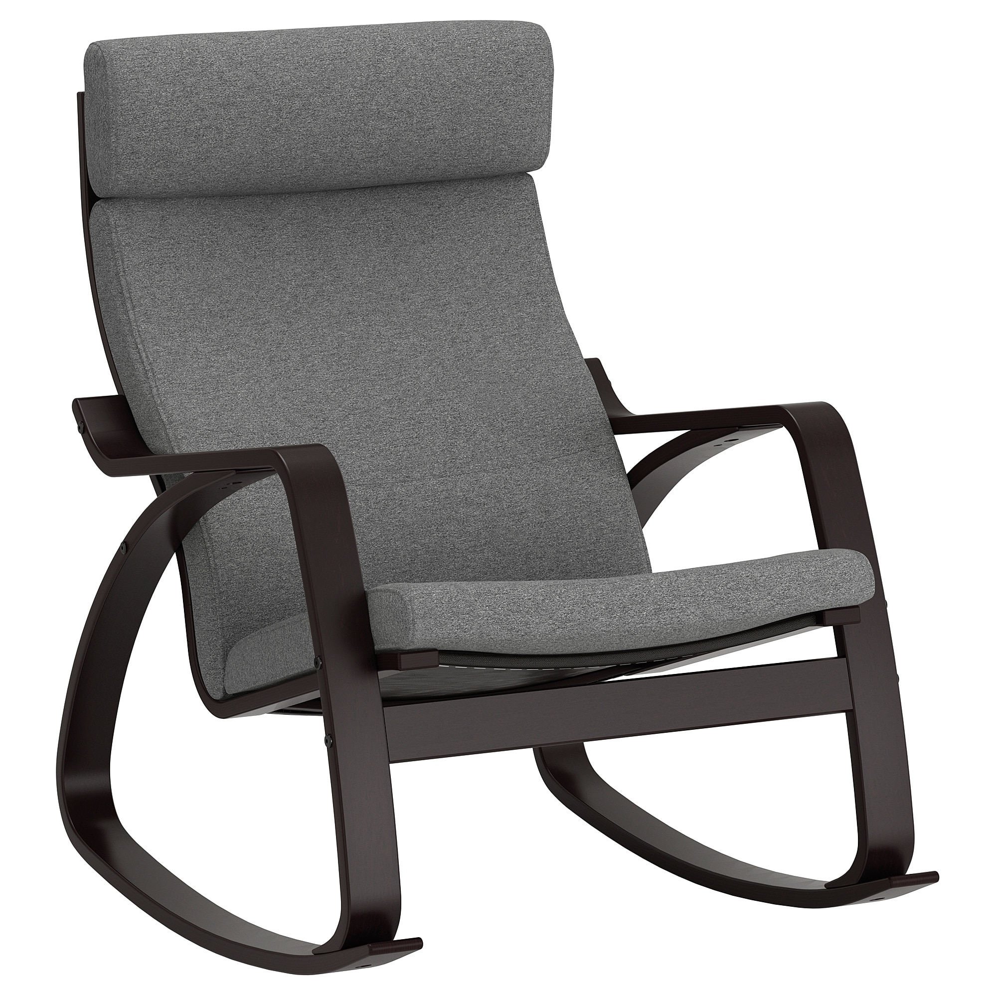 ikea white rocking chair hammock stand diy 20 best ideas of chairs famous poang black brown lysed grey for
