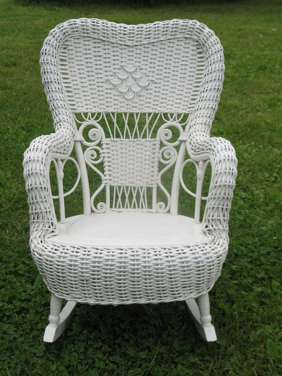 antique wicker chairs chair back covers for sale displaying gallery of rocking view 7 20 fancy victorian child s rocker heywood brothers and wakefield pertaining to popular