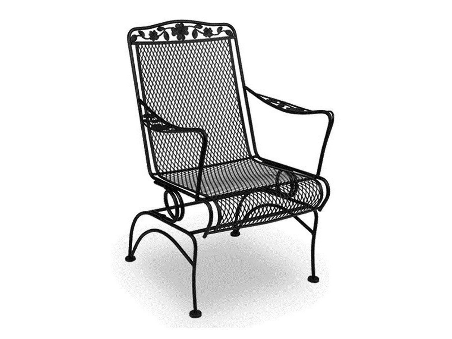 wrought iron rocking chair cotton lounge covers displaying photos of patio chairs view 2 20 most recently released furniture design ideas arelisapril pertaining to