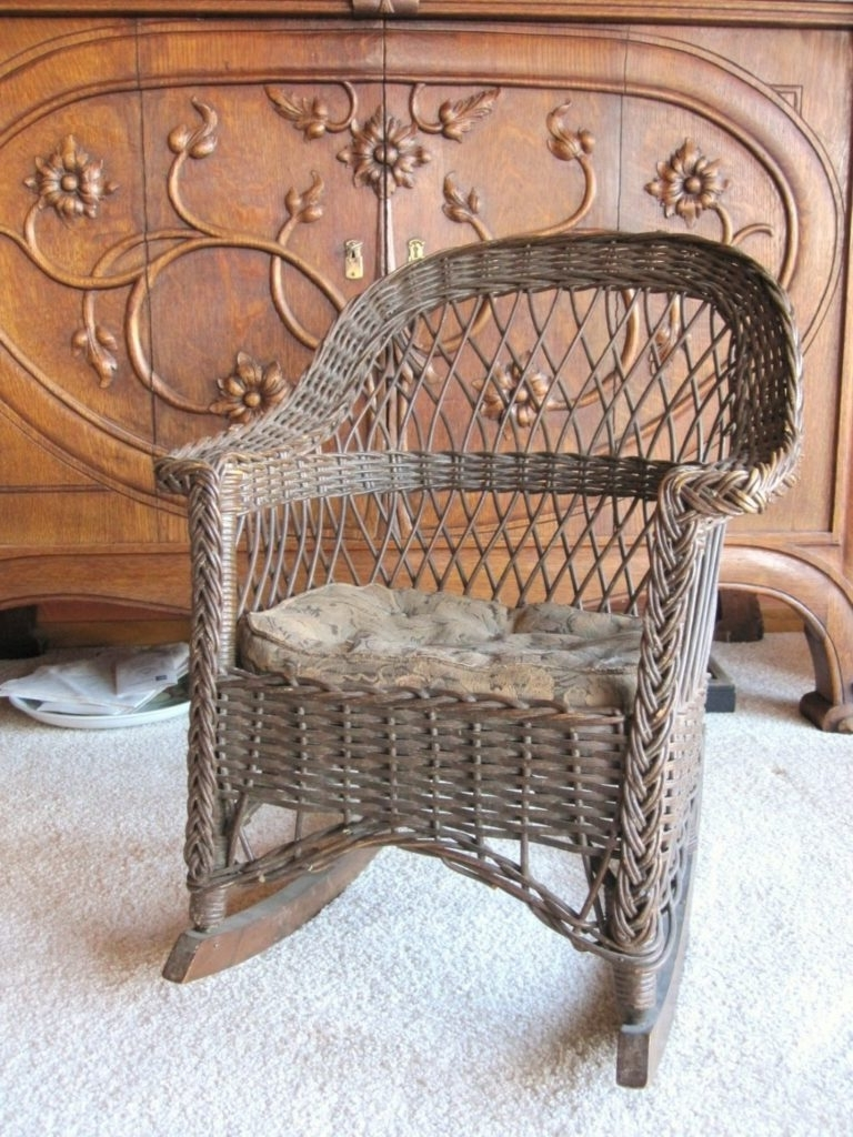 antique wicker chairs black saucer chair top 20 of rocking with springs widely used design ideas best vintage home cane