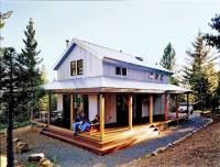 Cosy Metal Building Cabin w/ Wrap Around Porch (HQ Plans ...