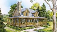 Beautiful Country Home w/ Wrap-Around Porch (HQ Plans ...