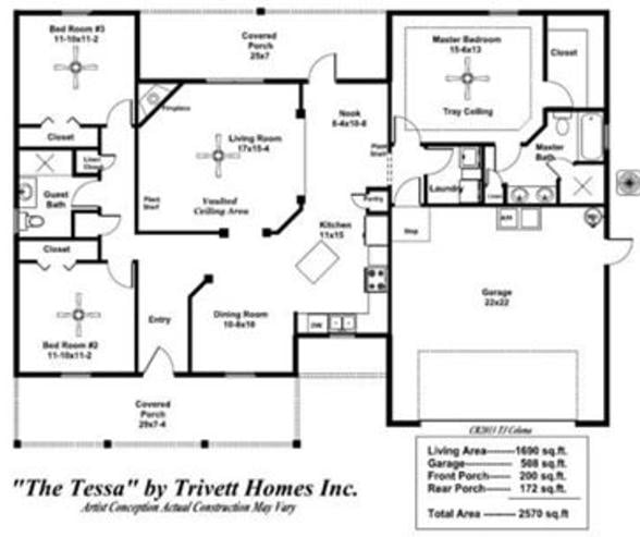 Awesome Metal Home of 1,706 Sq. Feet. w/ A Base Cost of