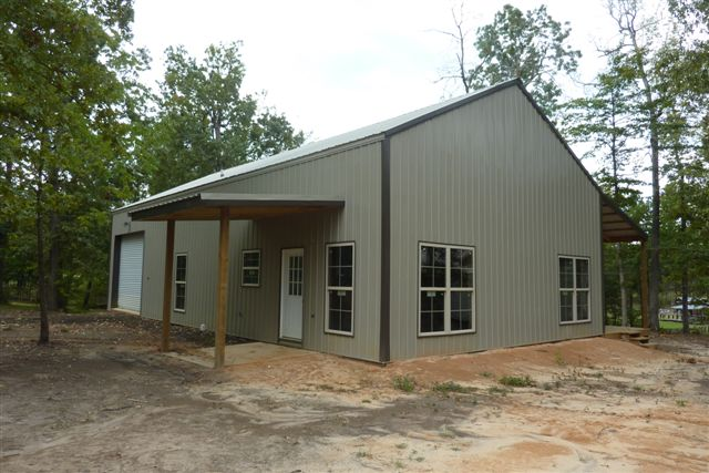 One Man 80 000 = This Awesome 30 X 56 Metal Pole Barn Home! 25