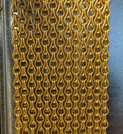 Chain Link Curtain  Bronze Silver Black Gray Brass