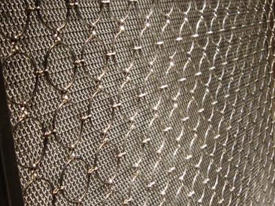 Decorative Ring Mesh Curtain SS Amp Bronze