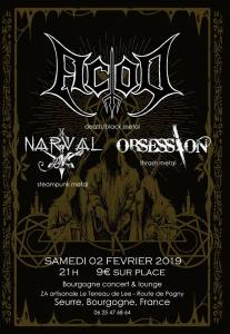 ACOD + NARVAL + OBSESSION @ Bourgogne Concert & Lounge