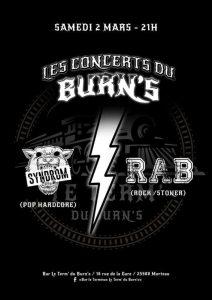 "Syndrom / R.A.B @ Bar Le Terminus "" Le Term Du Burns"""