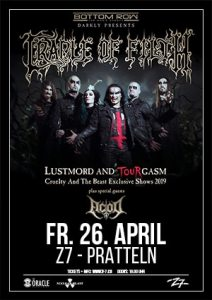 Cradle Of Filth @ Konzertfabrik Z7