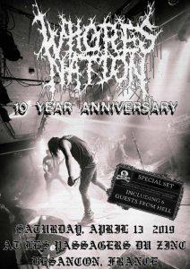 Whoresnation 10 Year Anniversary ♱ Guests @ Les Passagers du Zinc