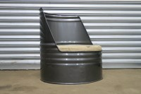 Oil Drum Chair Short | Metal and Dust