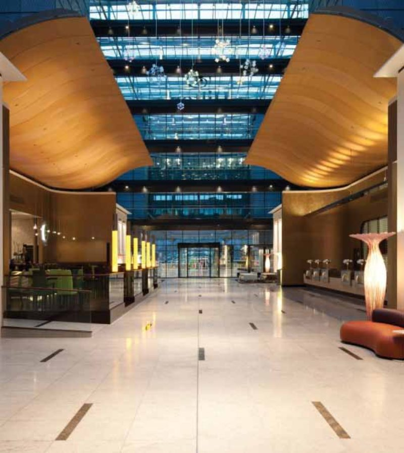 Hilton Frankfurt Airport Hotel Lobby Frankfurt Metal