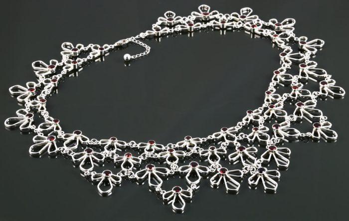 1. Garnet Sterling Silver Succulent Necklace - 2017 - sterling silver, garnet