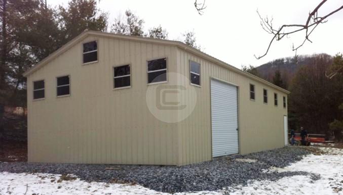 30 Wide Steel Workshop Metal Barn Central