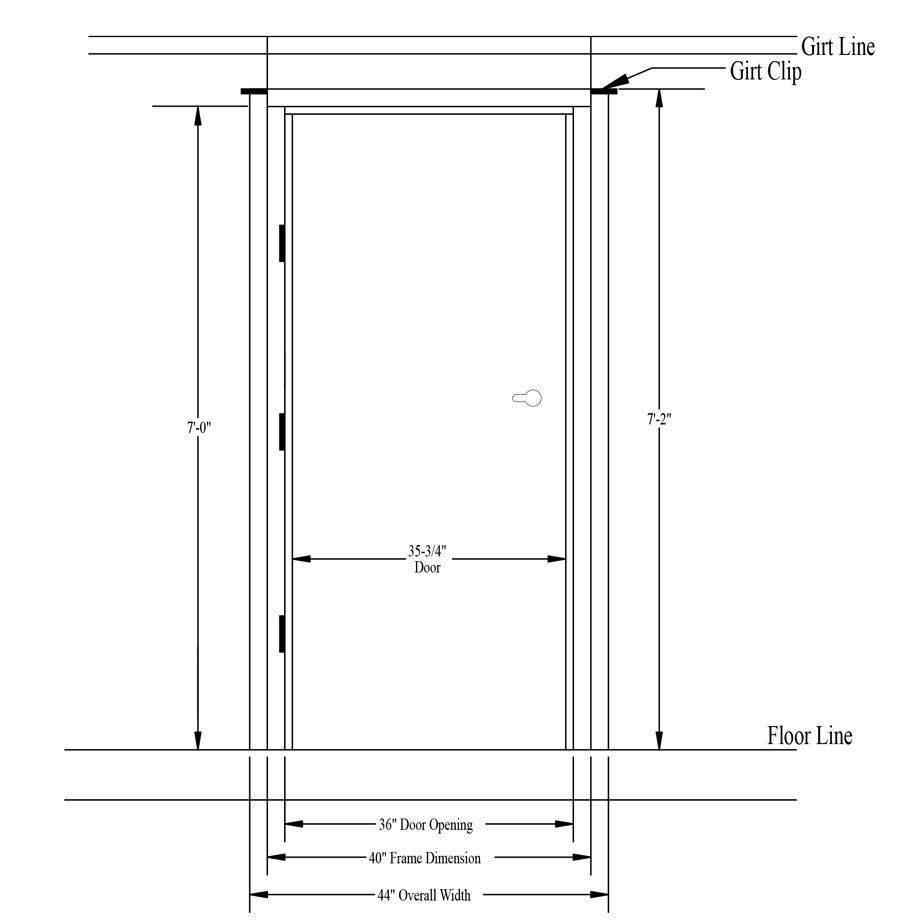 medium resolution of measuring steel entry doors