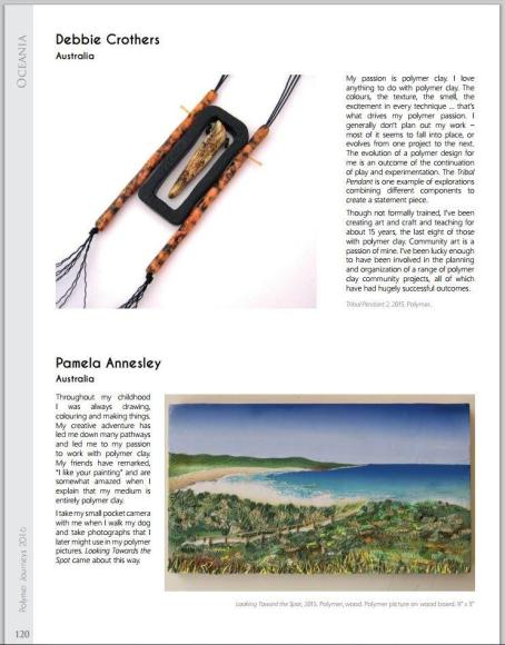 Artist Pam Annesley Published on Page 120, Polymer Journeys