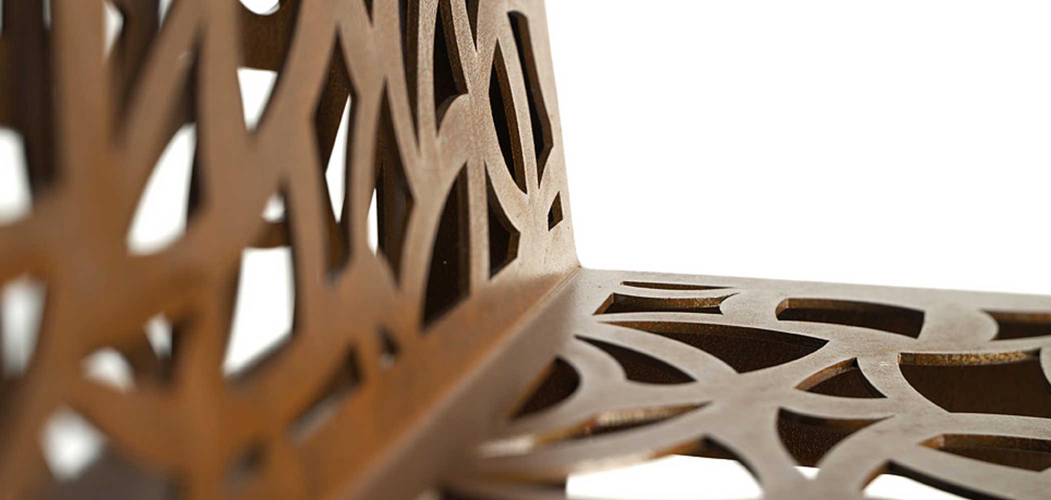 Color Corten Style Sedute con schienale  Metalco