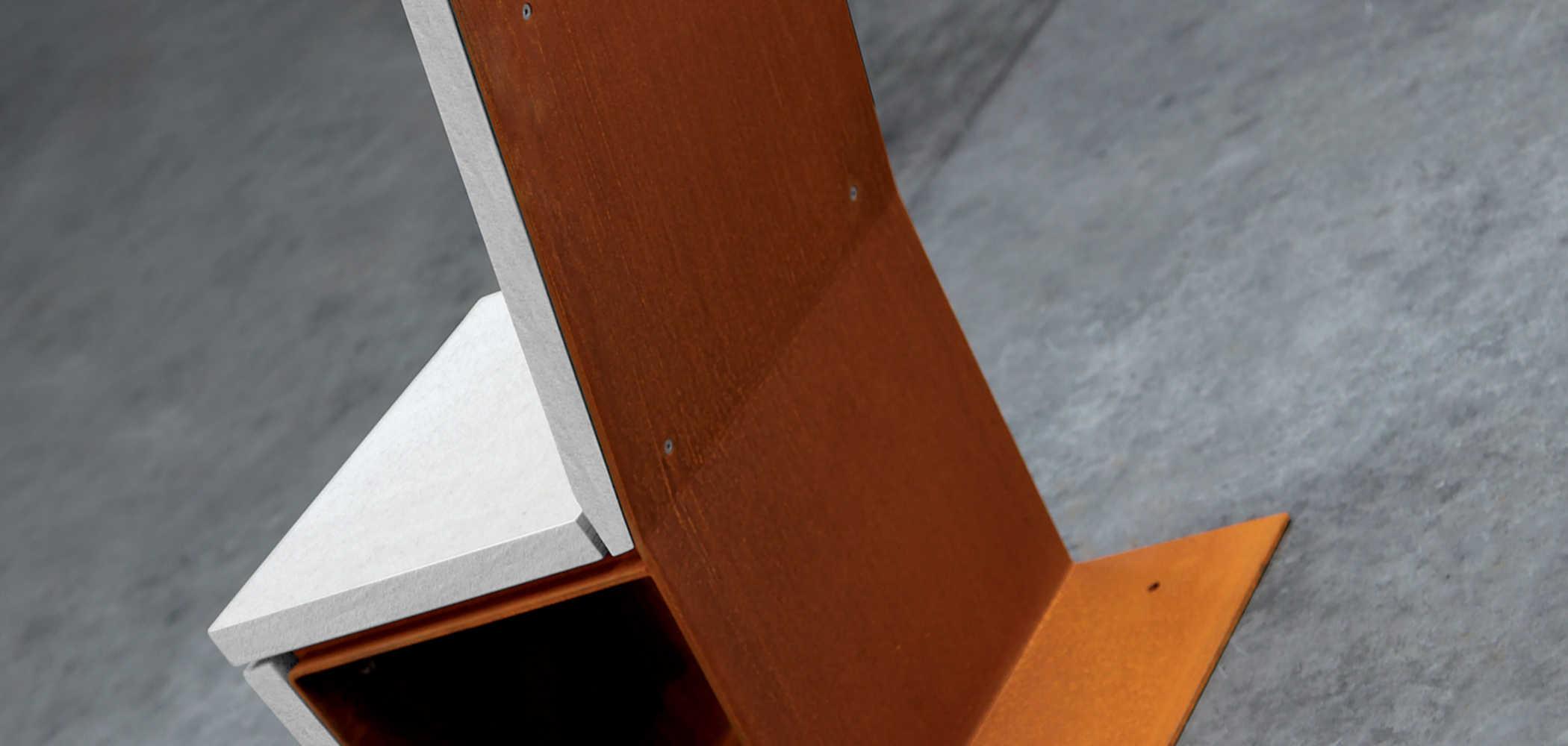 Sedute in legno e metallo Cortomadere  Metalco