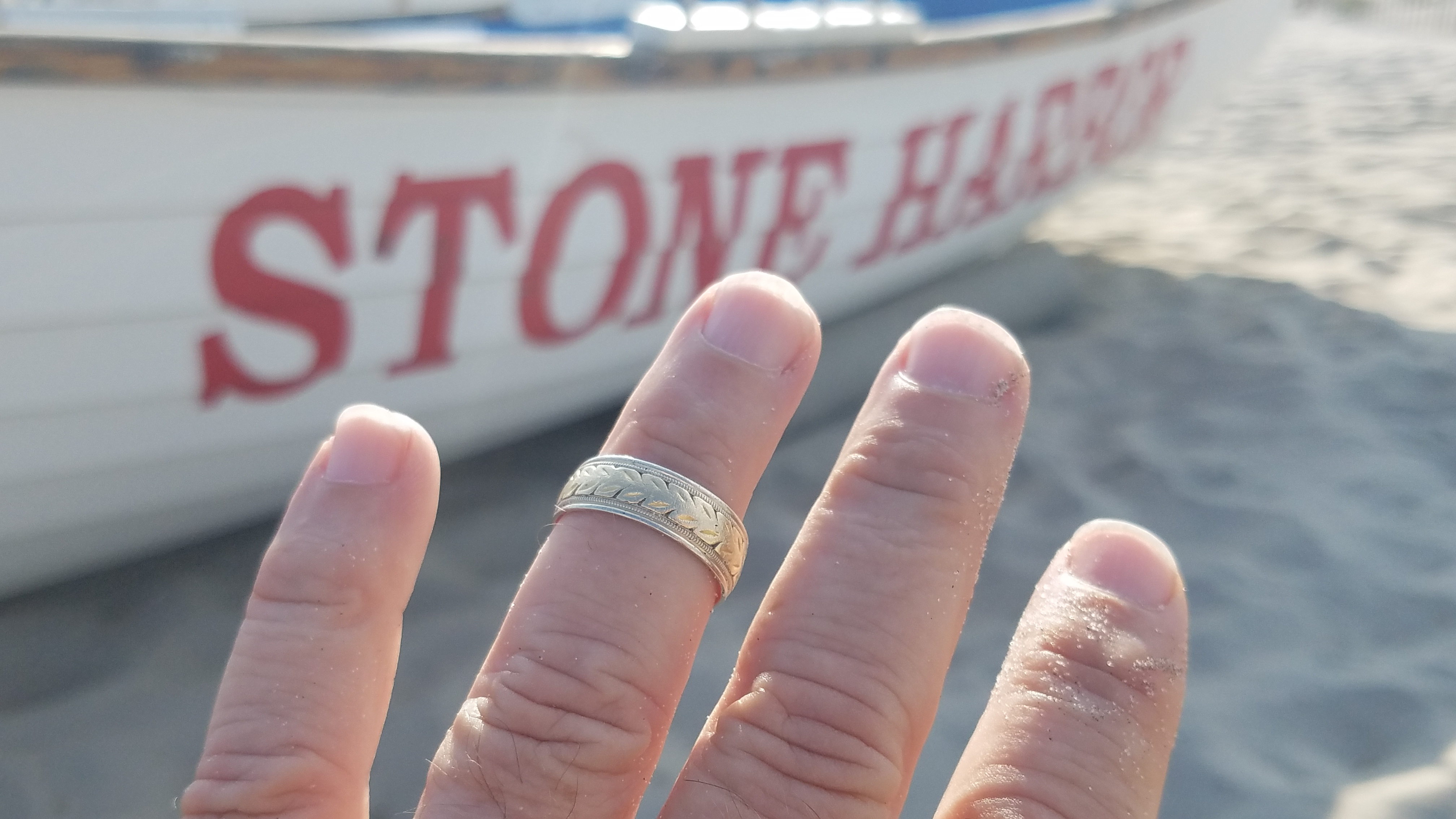 day trip to stone harbor includes lost wedding ring - Lost Wedding Ring