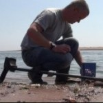 Beach Search in Hong Kong with a metal detector