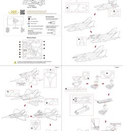 metal earth aviation f 22 raptor instructions view [ 849 x 1200 Pixel ]
