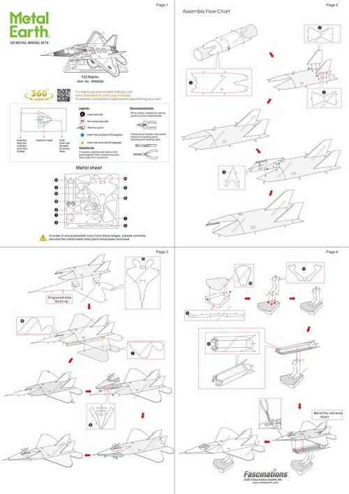 small resolution of metal earth aviation f 22 raptor instructions view