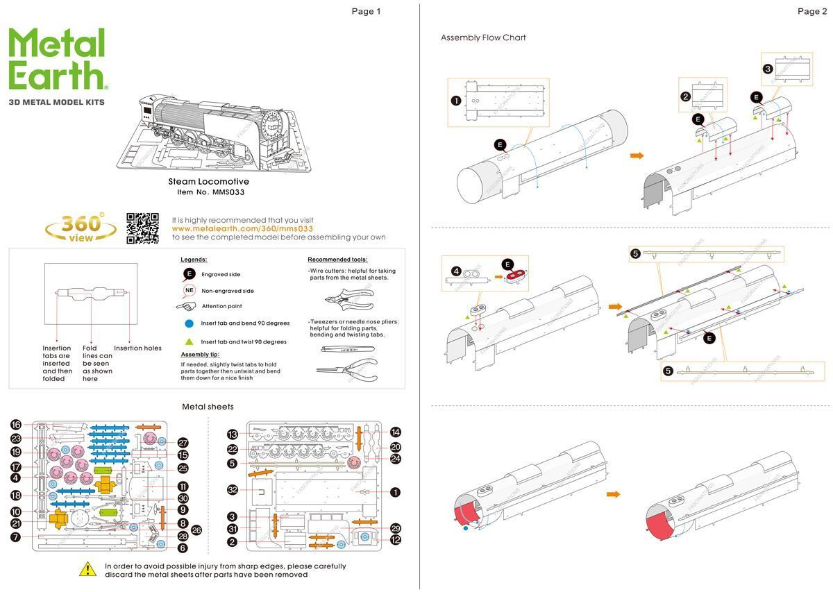 hight resolution of instruction of steam locomotive instructions 1 view