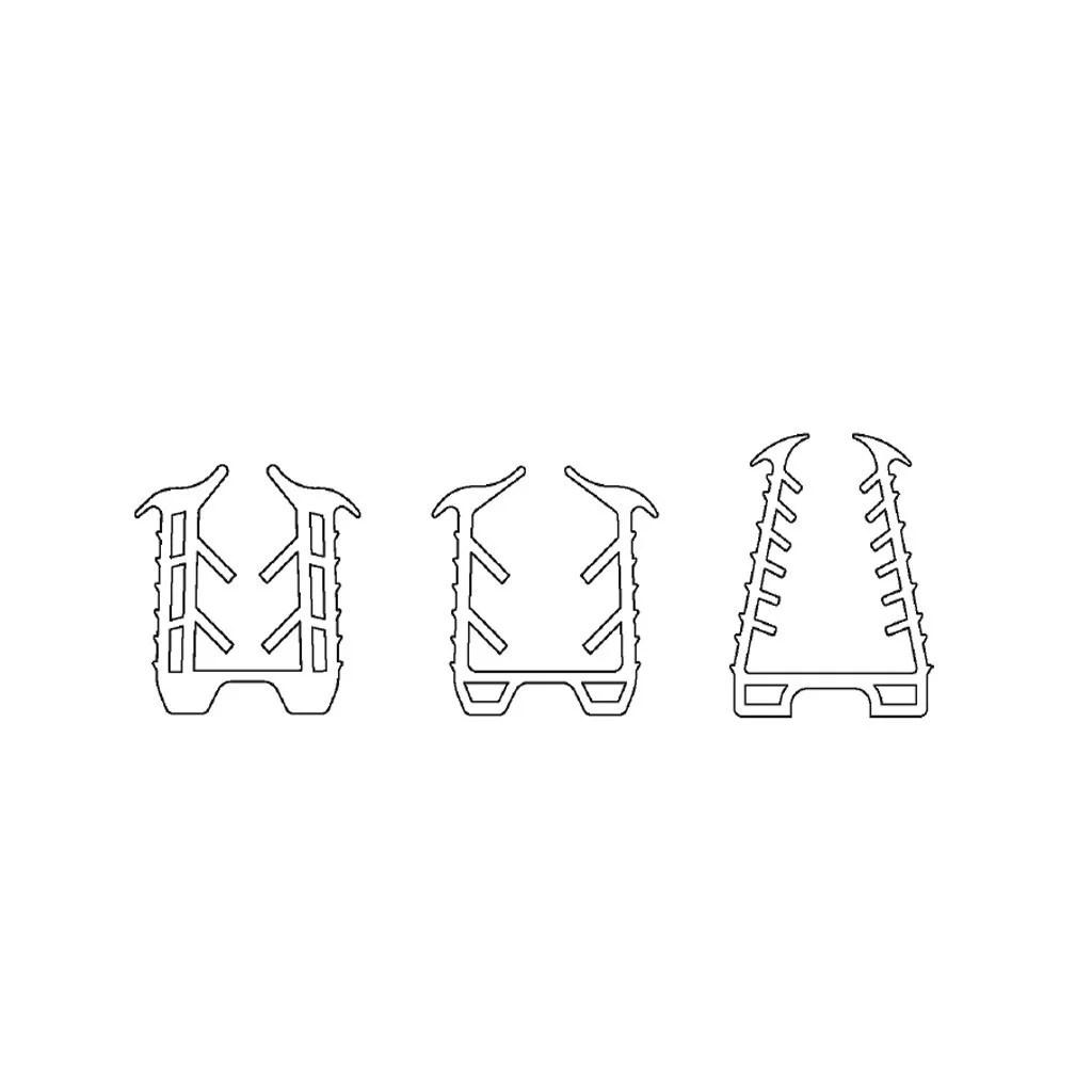 Joint Epdm Pour Gorge 15x15mm Avec Led Pour Verre 6 0 8 0mm