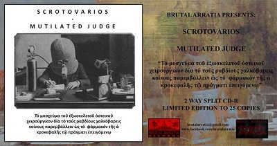 Mutilated Judge split con Scrotovarios