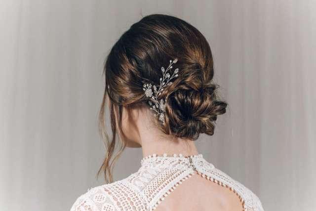 bridal veils - wedding dresses shop in paris - metal flaque