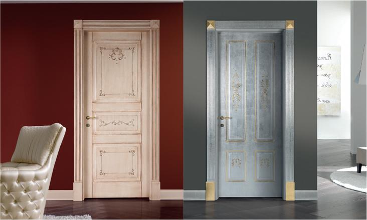 Porte da interni artigianali dipinte a mano collezione