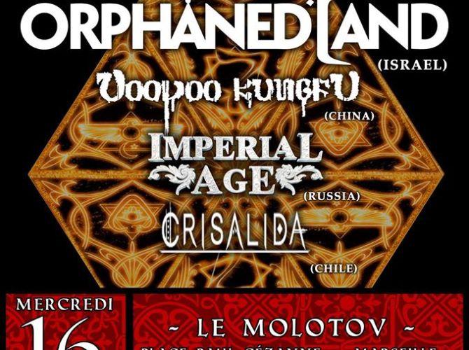 Orphaned land en concert à marseille en 2016