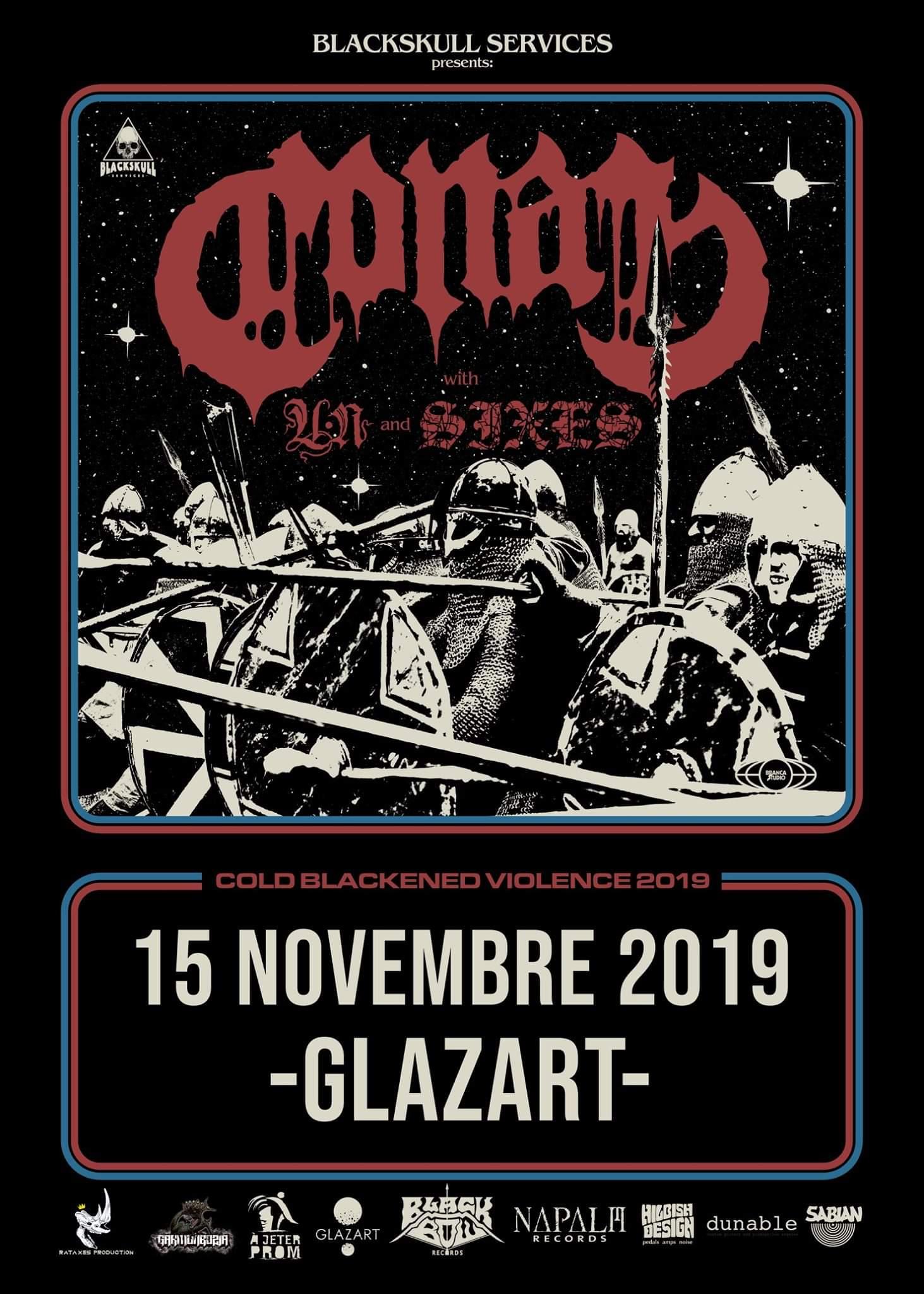 Concert de Conan, Un, Sixes au Glazart à Paris