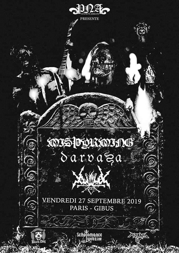 Concert de Misþyrming, Darvaza, Vortex of End au Gibus à Paris