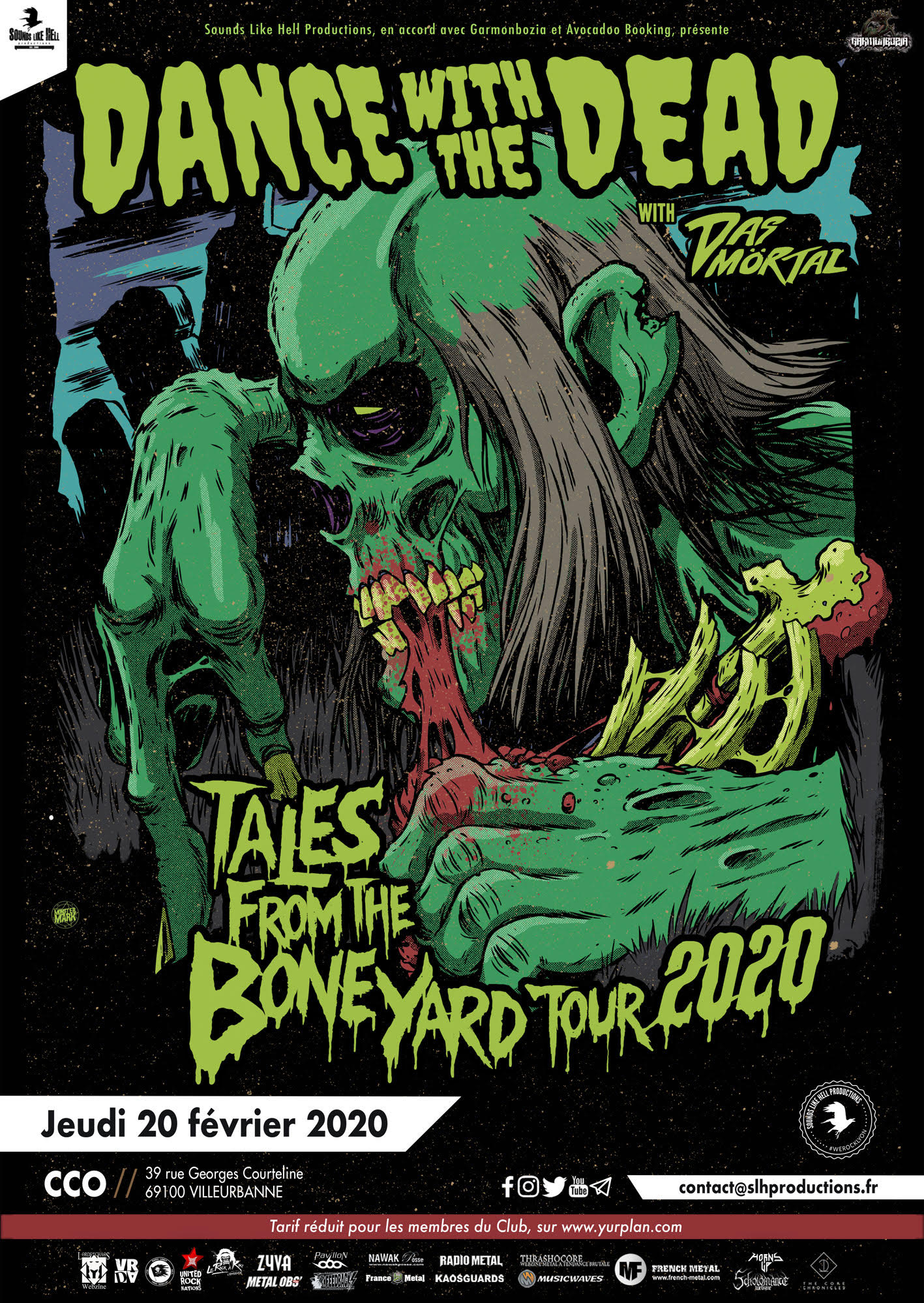 Affiche du concert de Dance with the Dead à Lyon en 2020