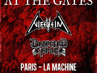 Concert de At the gates, Nifelheim, Deserted fear à la machine du moulin rouge à paris