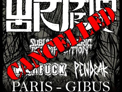 Concert de Wormrot, Sublime Cadaveric Decomposition, Pendrak au Gibus à Paris
