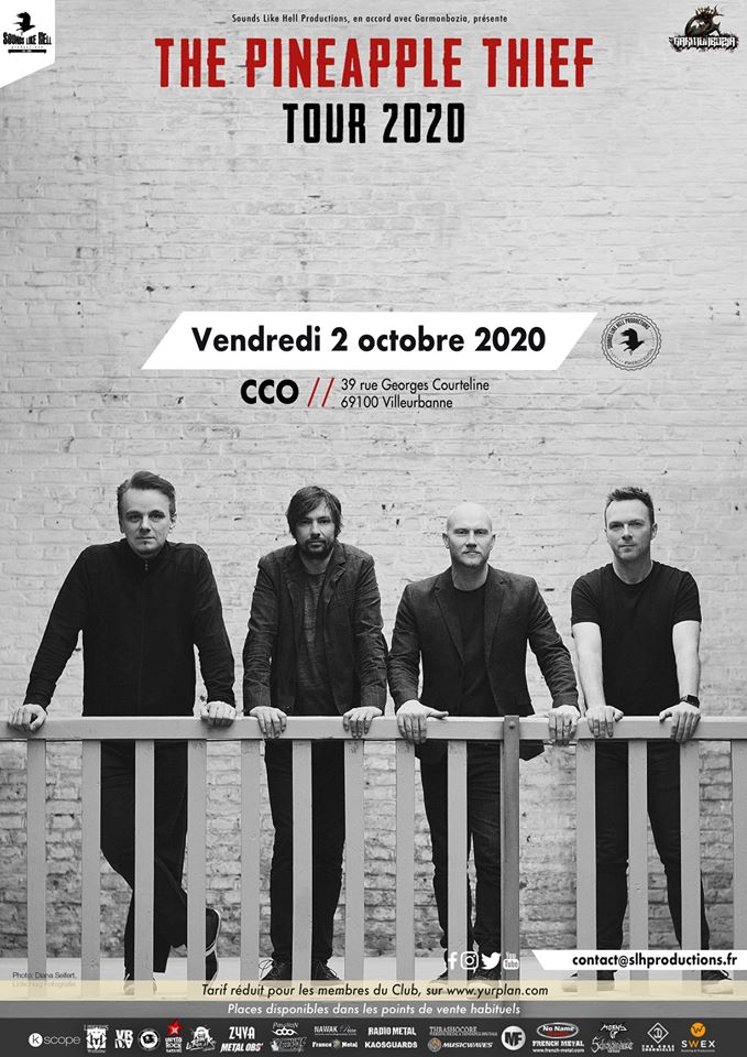 Affiche concert de the pineapple thief au CCO à Lyon