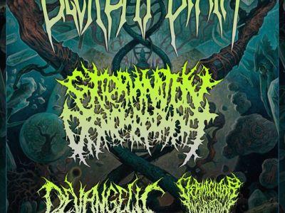 Concert de Decrepit Birth, Extermination Dismemberment, Devangelic, Vermicular Incubation au gibus à paris