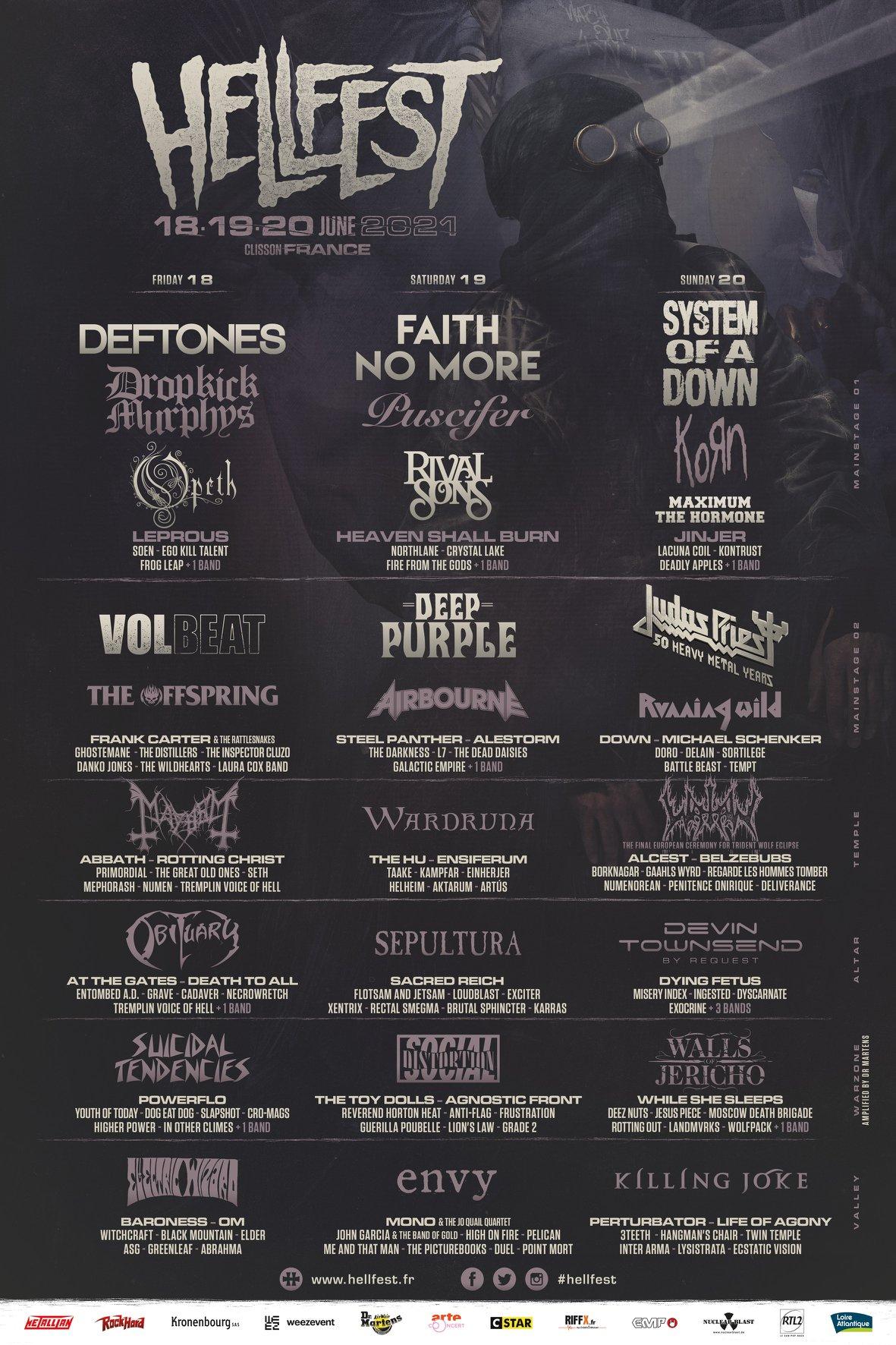 Affiche du Hellfest 2021
