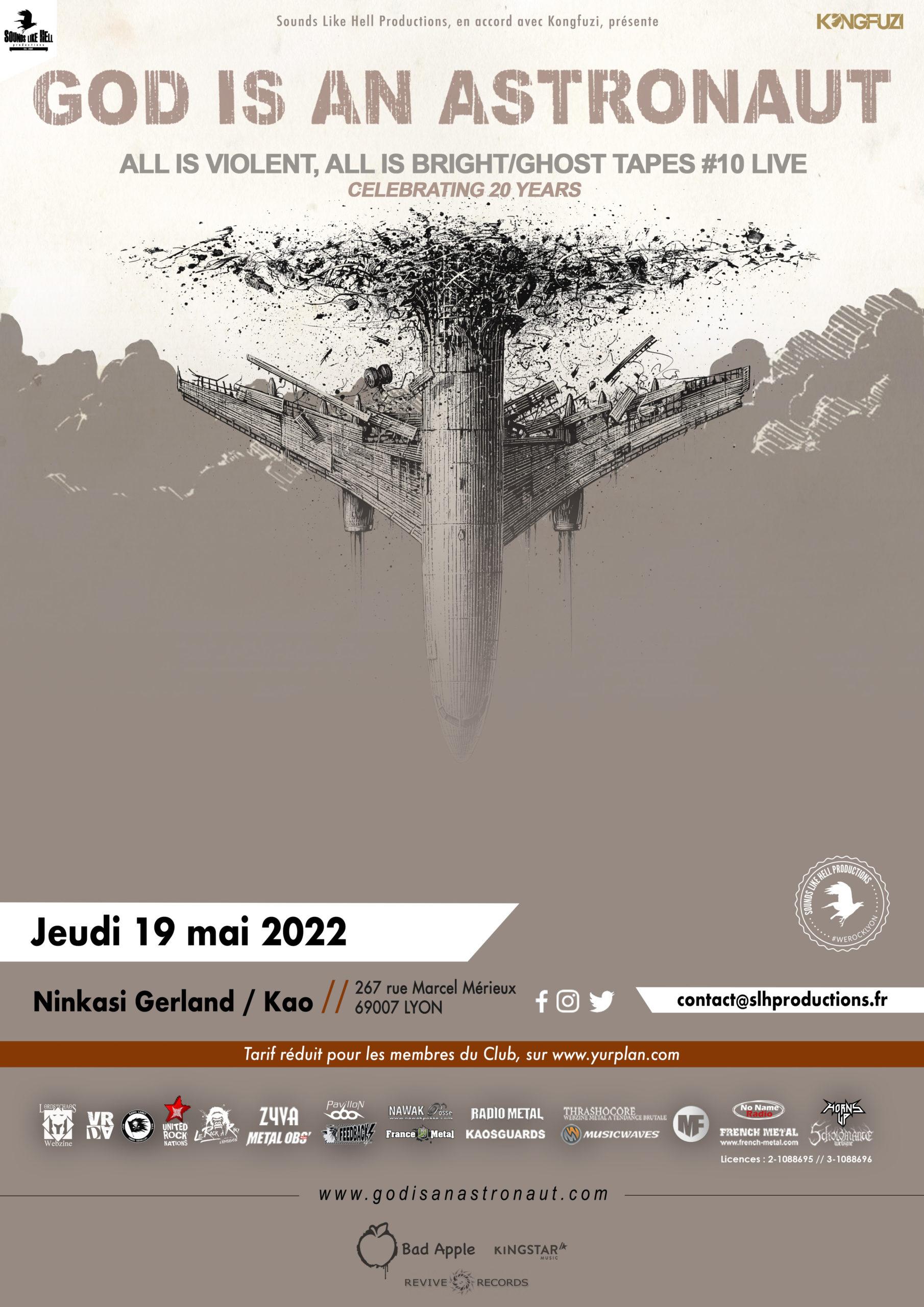 god is an astronaut - concert lyon 2022