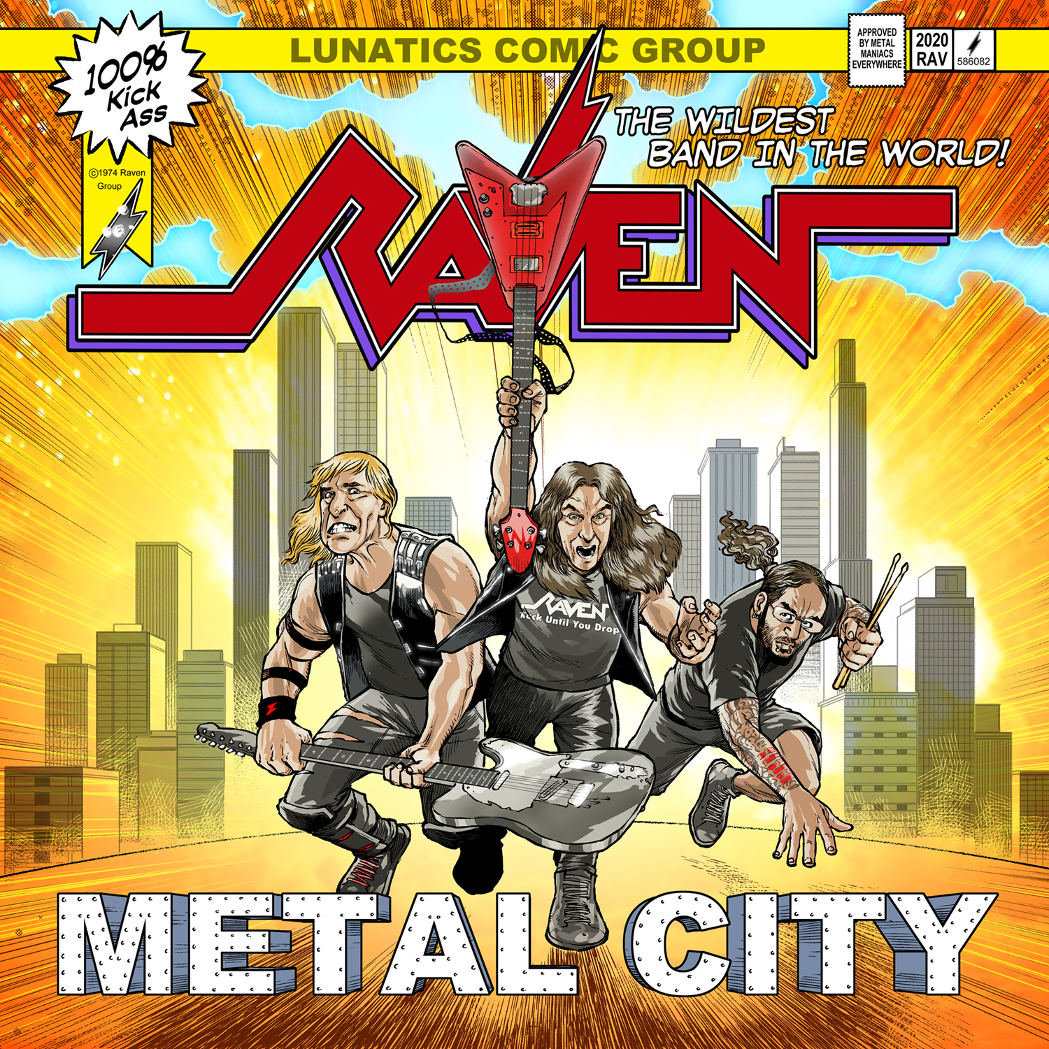 Pochette de Raven - Metal City